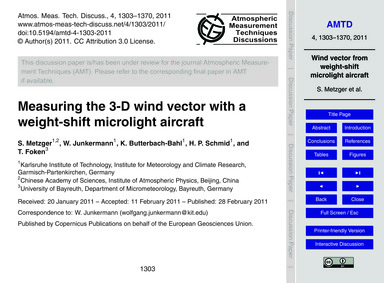 Measuring the 3-d Wind Vector with a Wei... by Metzger, S.