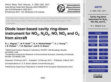 Diode Laser-based Cavity Ring-down Instr... by Wagner, N. L.