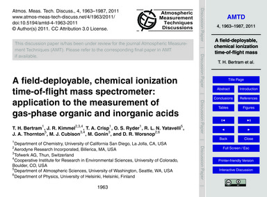 A Field-deployable, Chemical Ionization ... by Bertram, T. H.