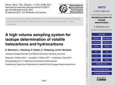 A High Volume Sampling System for Isotop... by Bahlmann, E.