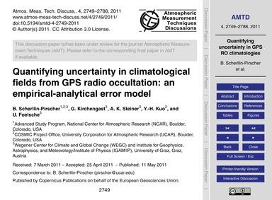 Quantifying Uncertainty in Climatologica... by Scherllin-pirscher, B.