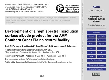 Development of a High Spectral Resolutio... by McFarlane, S. A.