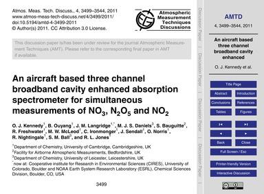 An Aircraft Based Three Channel Broadban... by Kennedy, O. J.