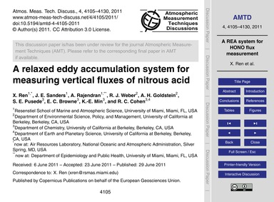 A Relaxed Eddy Accumulation System for M... by Ren, X.