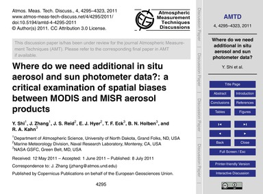 Where Do We Need Additional in Situ Aero... by Shi, Y.
