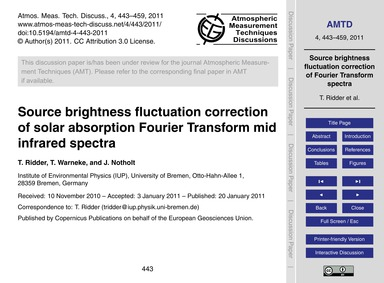Source Brightness Fluctuation Correction... by Ridder, T.