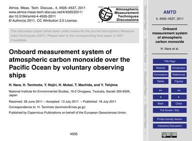 Onboard Measurement System of Atmospheri... by Nara, H.