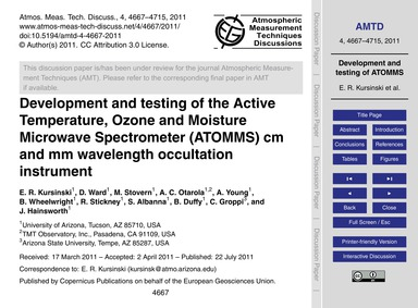 Development and Testing of the Active Te... by Kursinski, E. R.