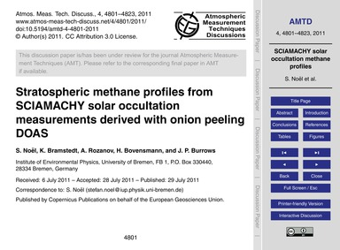 Stratospheric Methane Profiles from Scia... by Noël, S.