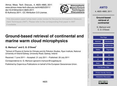 Ground-based Retrieval of Continental an... by Martucci, G.