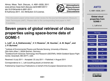 Seven Years of Global Retrieval of Cloud... by Lelli, L.