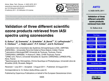 Validation of Three Different Scientific... by Dufour, G.