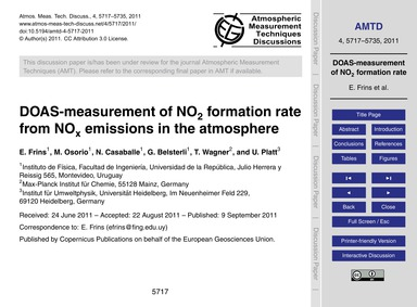 Doas-measurement of No2 Formation Rate f... by Frins, E.