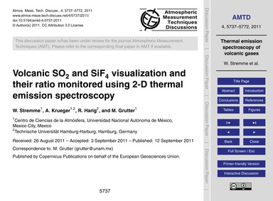 Volcanic So2 and Sif4 Visualization and ... by Stremme, W.