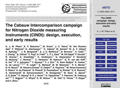 The Cabauw Intercomparison Campaign for ... by Piters, A. J. M.