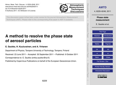 A Method to Resolve the Phase State of A... by Saukko, E.