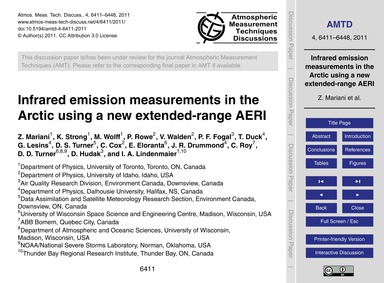 Infrared Emission Measurements in the Ar... by Mariani, Z.