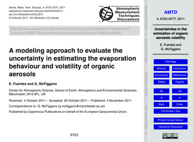 A Modeling Approach to Evaluate the Unce... by Fuentes, E.