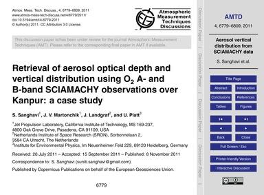 Retrieval of Aerosol Optical Depth and V... by Sanghavi, S.