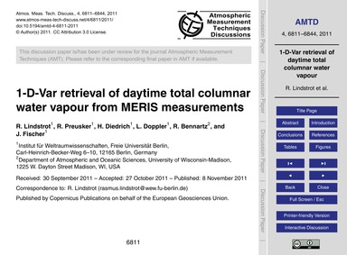 1-d-var Retrieval of Daytime Total Colum... by Lindstrot, R.