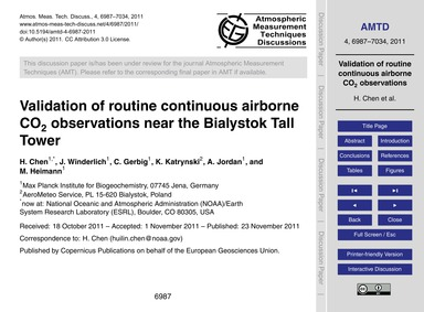Validation of Routine Continuous Airborn... by Chen, H.