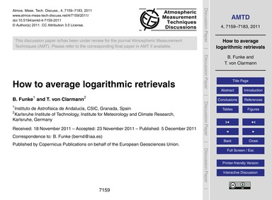 How to Average Logarithmic Retrievals : ... by Funke, B.