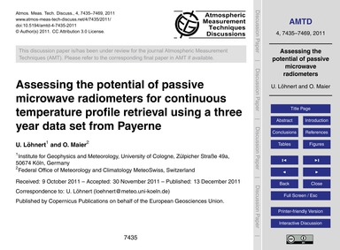 Assessing the Potential of Passive Micro... by Löhnert, U.