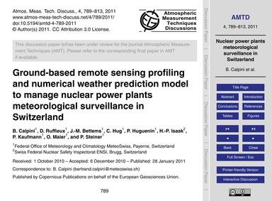 Ground-based Remote Sensing Profiling an... by Calpini, B.