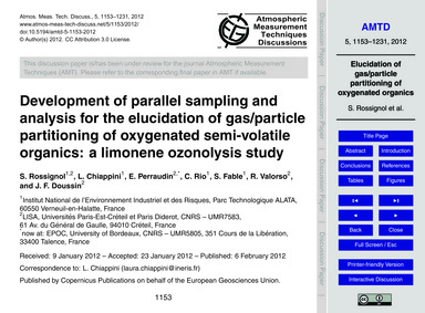 Development of Parallel Sampling and Ana... by Rossignol, S.