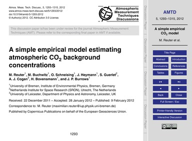 A Simple Empirical Model Estimating Atmo... by Reuter, M.