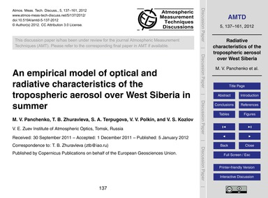 An Empirical Model of Optical and Radiat... by Panchenko, M. V.