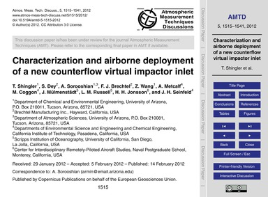 Characterization and Airborne Deployment... by Shingler, T.