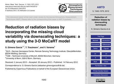 Reduction of Radiation Biases by Incorpo... by Gimeno García, S.