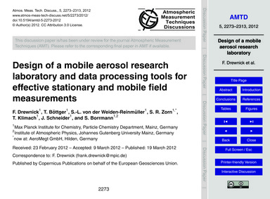 Design of a Mobile Aerosol Research Labo... by Drewnick, F.