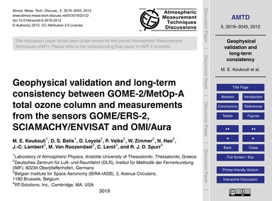 Geophysical Validation and Long-term Con... by Koukouli, M. E.