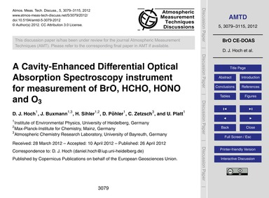 A Cavity-enhanced Differential Optical A... by Hoch, D. J.