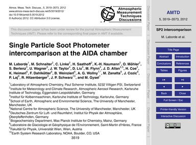 Single Particle Soot Photometer Intercom... by Laborde, M.