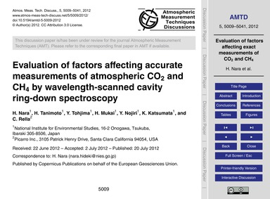 Evaluation of Factors Affecting Accurate... by Nara, H.