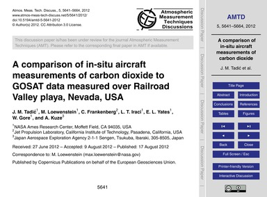 A Comparison of In-situ Aircraft Measure... by Tadić, J. M.