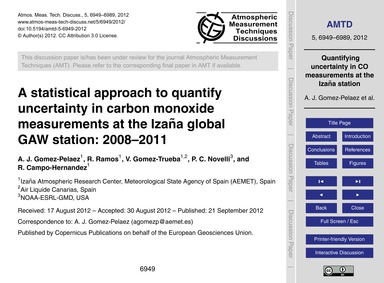 A Statistical Approach to Quantify Uncer... by Gomez-pelaez, A. J.