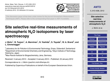 Site Selective Real-time Measurements of... by Mohn, J.