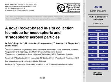 A Novel Rocket-based In-situ Collection ... by Reid, W.