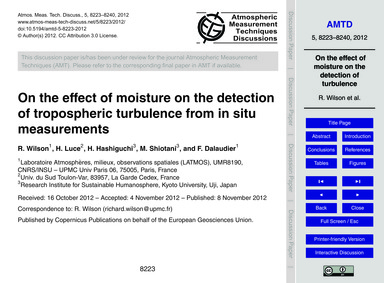 On the Effect of Moisture on the Detecti... by Wilson, R.