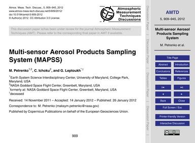 Multi-sensor Aerosol Products Sampling S... by Petrenko, M.