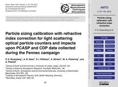 Particle Sizing Calibration with Refract... by Rosenberg, P. D.