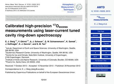 Calibrated High-precision 17OExcess Meas... by Steig, E. J.