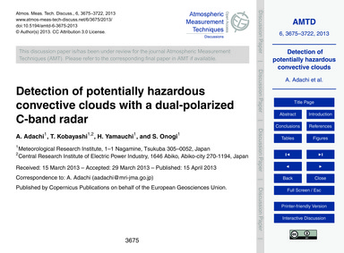 Detection of Potentially Hazardous Conve... by Adachi, A.