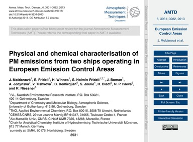 Physical and Chemical Characterisation o... by Moldanová, J.