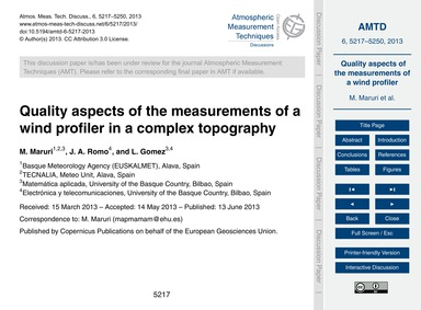 Quality Aspects of the Measurements of a... by Maruri, M.