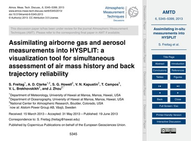 Assimilating Airborne Gas and Aerosol Me... by Freitag, S.